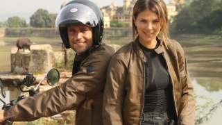 Michel Brown y Margarita Muñoz descubren India en moto de mano de Rakatanga Tour